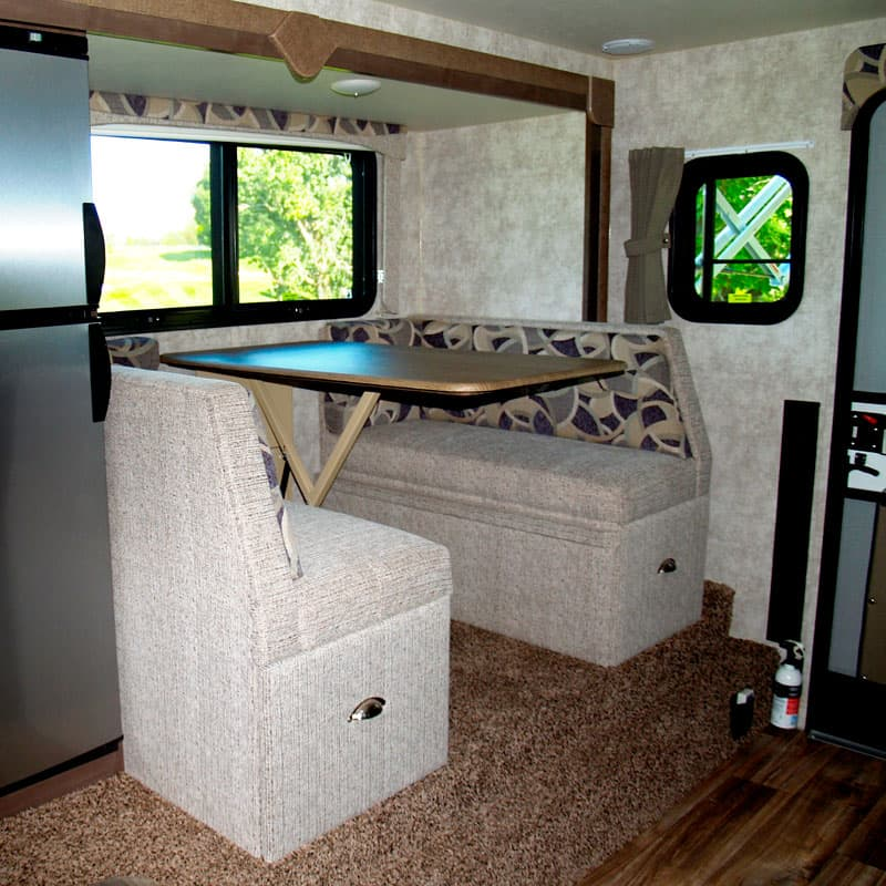 Prada interior decor in Eagle Cap Campers