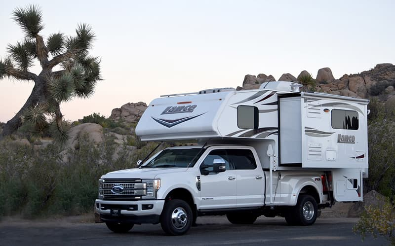 2017 Ford F350 and 2018 Lance 1172