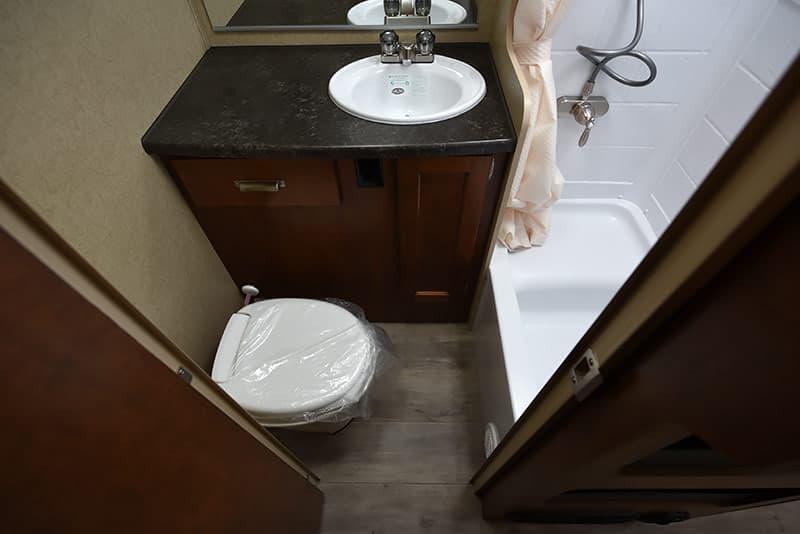 Lance 975 bathroom floor