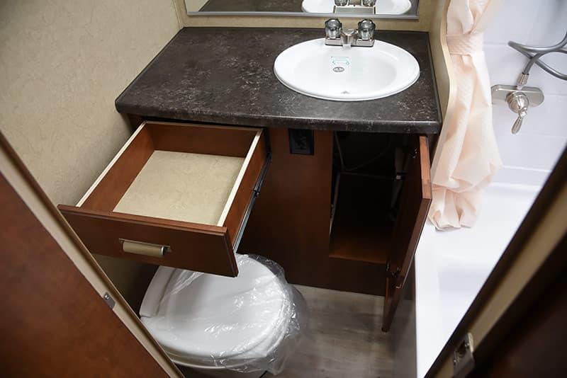 Lance 975 bath drawer storage