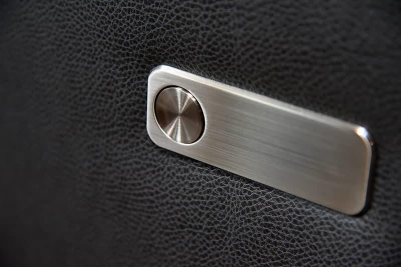 Camper dinette locking drawer buttons