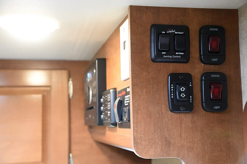 Lance 975 awning switches and controls