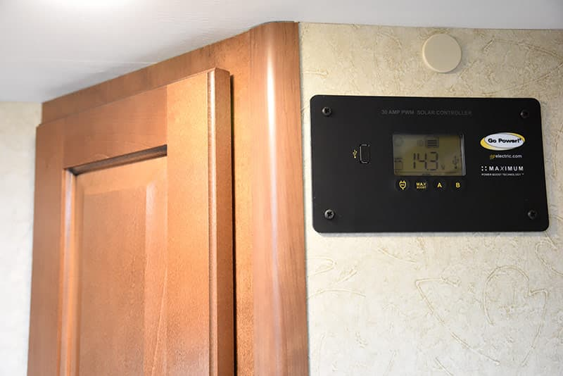 Go Power solar controller in Lance Camper 975