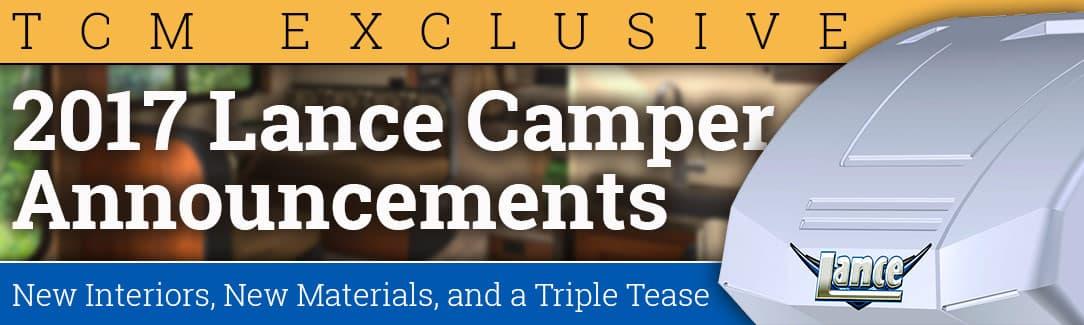 2017 Lance Camper Announcements