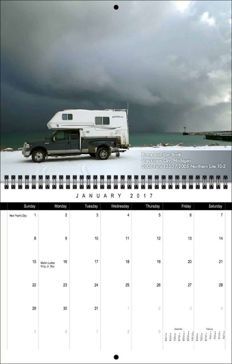 2017 Truck Camper Magazine Calendar January