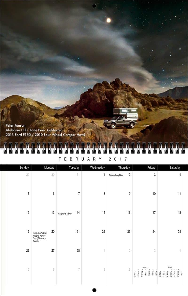 2017 Truck Camper Magazine Calendar February