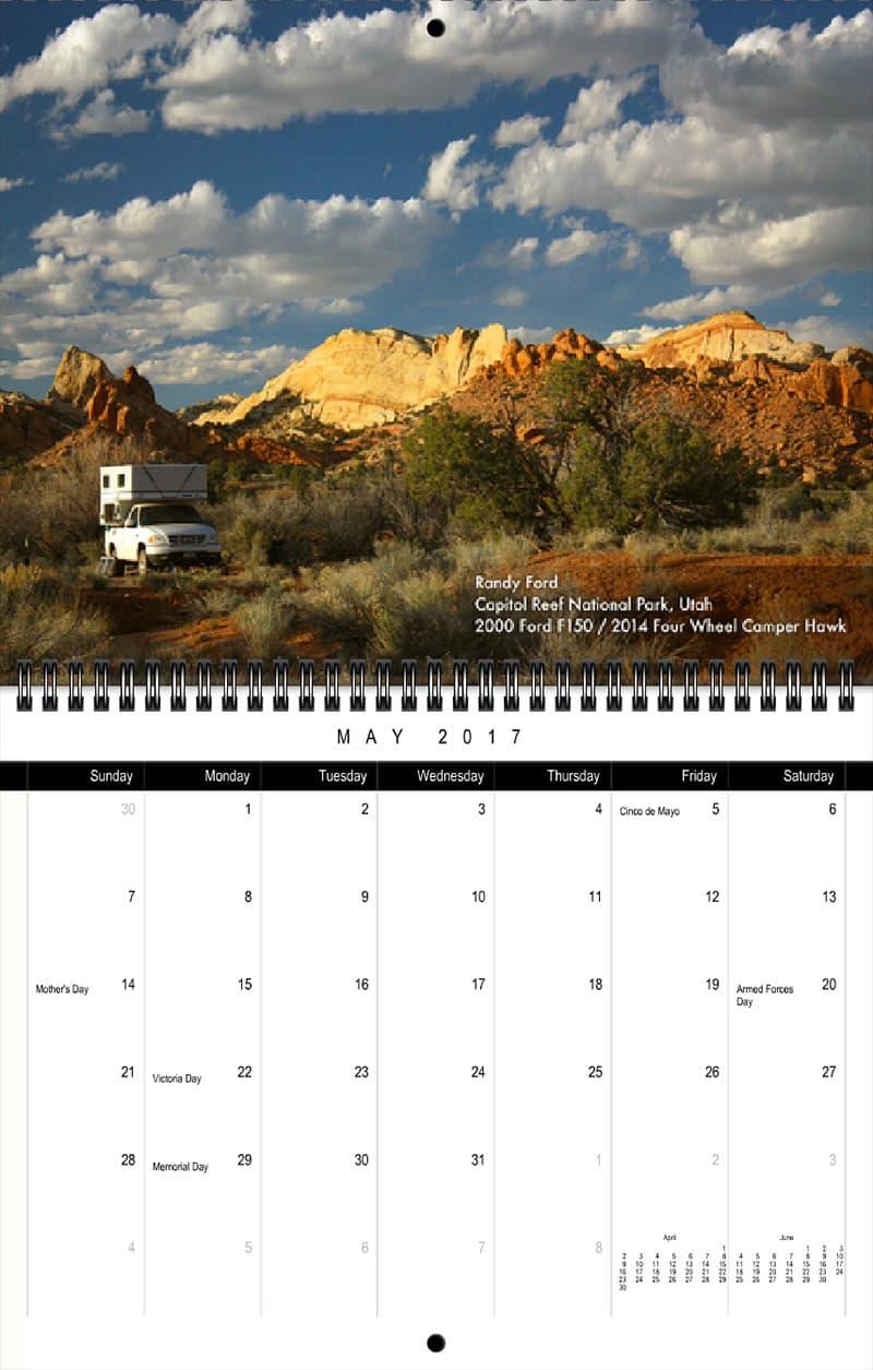2017 Truck Camper Magazine Calendar May