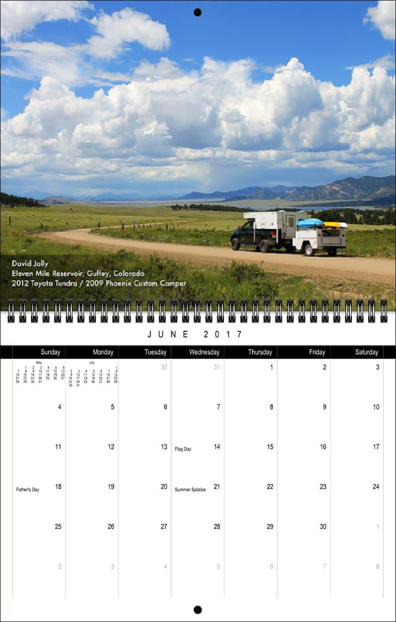 2017 Truck Camper Magazine Calendar June