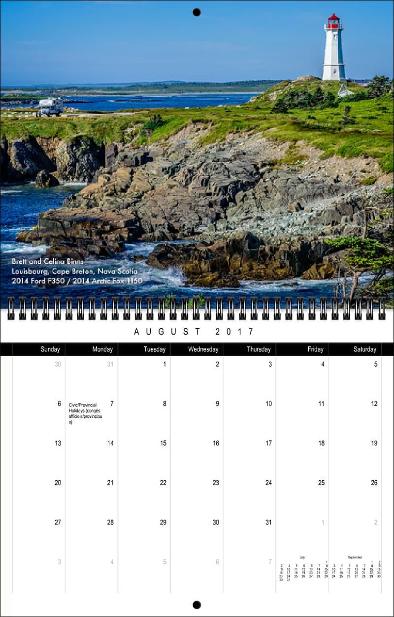 2017 Truck Camper Magazine Calendar August