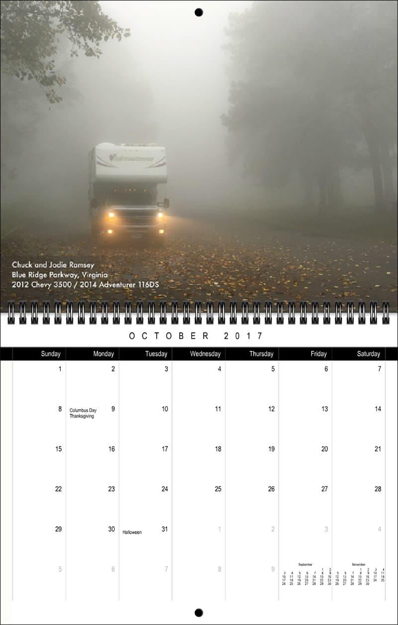 2017 Truck Camper Magazine Calendar October