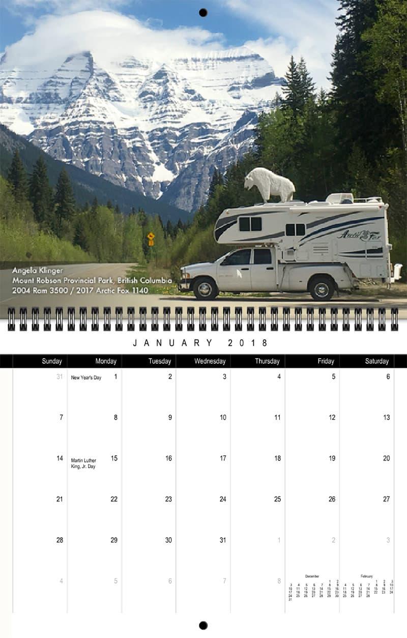 2018 Truck Camper Magazine Calendar January