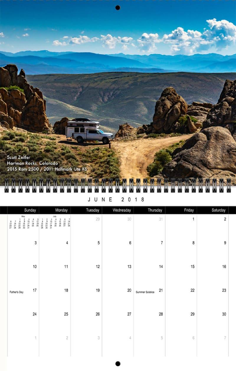 2018 Truck Camper Magazine Calendar June