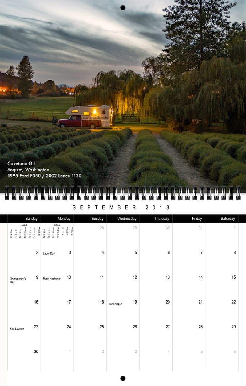 2018 Truck Camper Magazine Calendar September