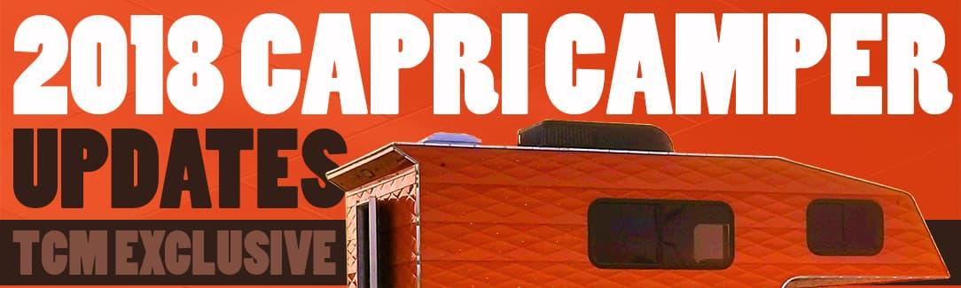 2018 Capri Camper Updates