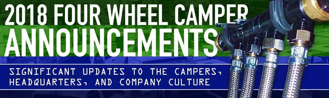 2018 Four Wheel Camper Announcements - 5S Lean Manufacturing