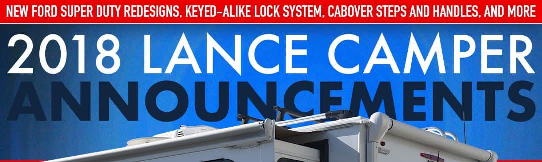 2018 Lance Announcements