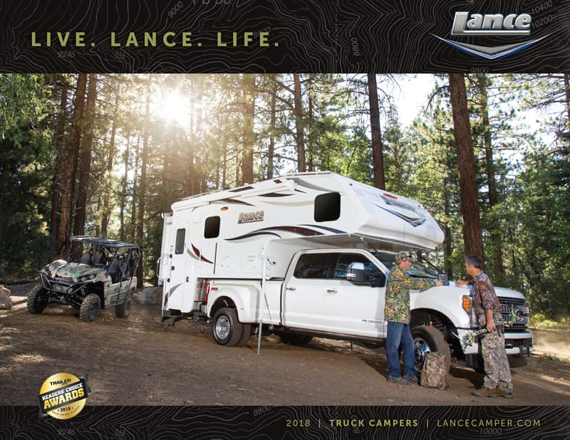 2018 Lance Camper Brochure Cover