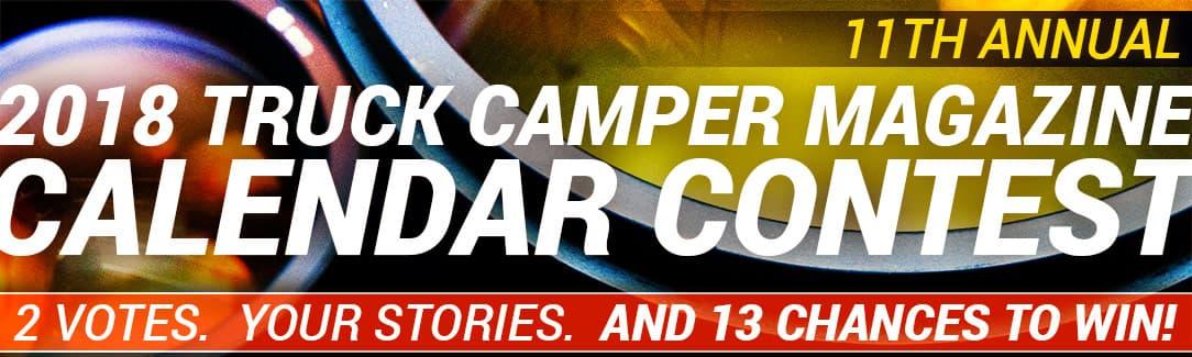 2018 Truck Camper Magazine Calendar Contest