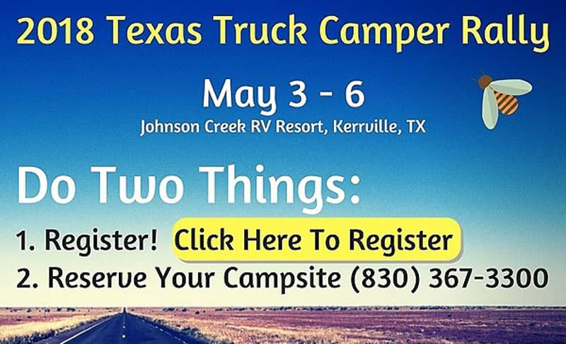 2018 Texas Truck Camper Rally