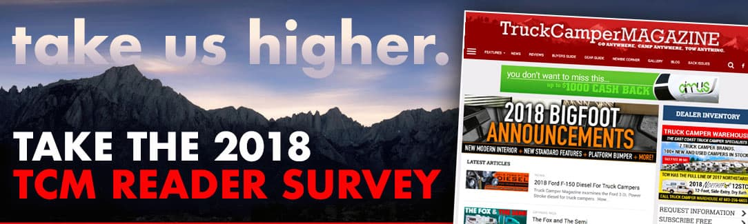 2018 Truck Camper Magazine Reader Survey