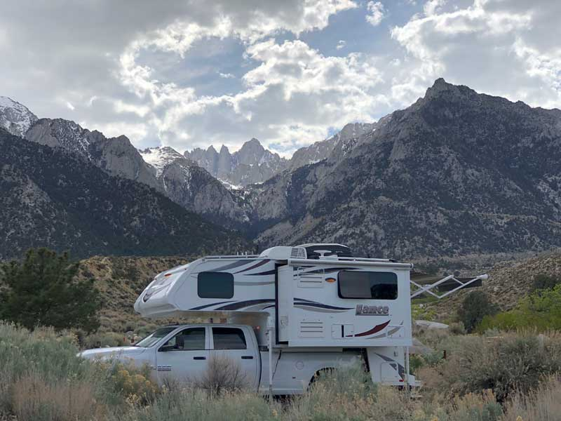 Lance 975 in Lone Pine, California