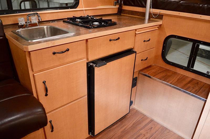 Alaskan Flatbed Camper Kitchen Drawers