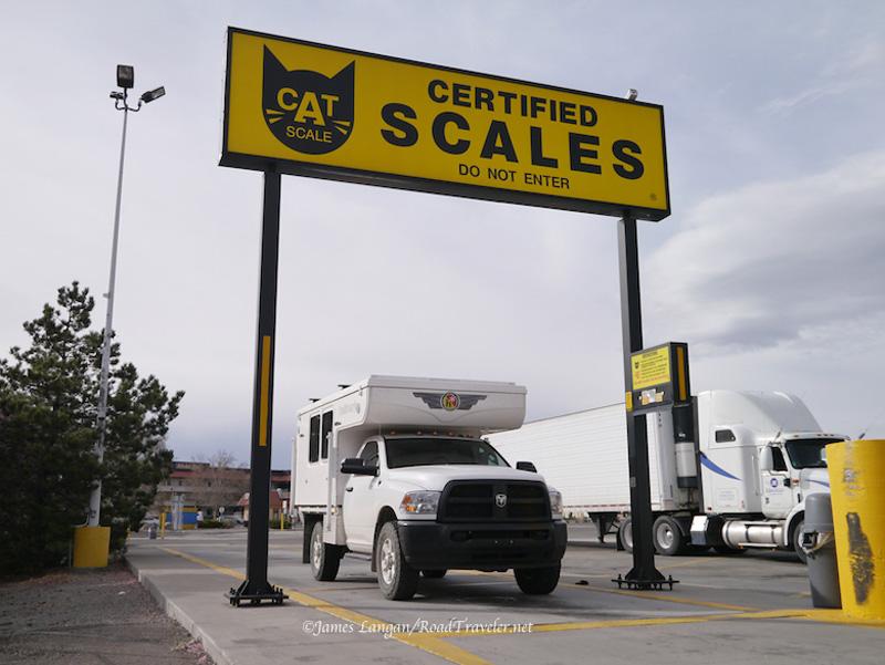 CAT Scale Weight Hallmark Nevada Truck Camper