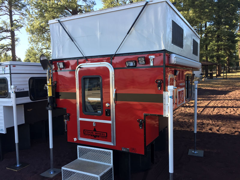 Four Wheel Camper Color Concept The Red Truck Camper
