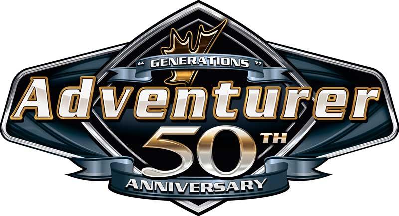 Adventurer 50th Anniversary Logo