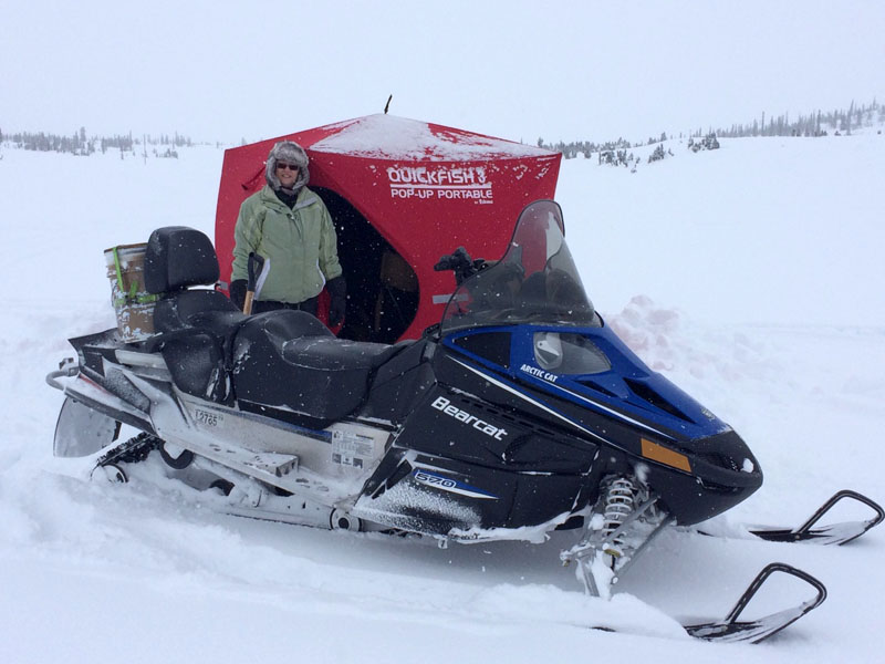 Bearcat Snowmobile Fishing