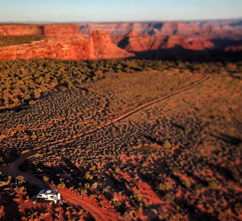 Cirrus Camper drone Shot