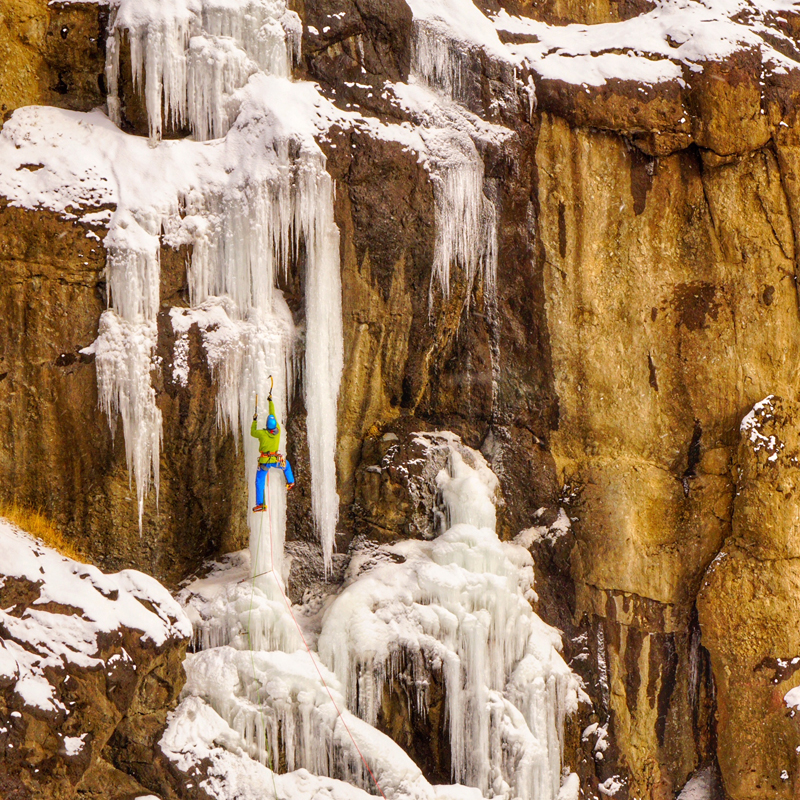 Climbing Frozen Waterfalls