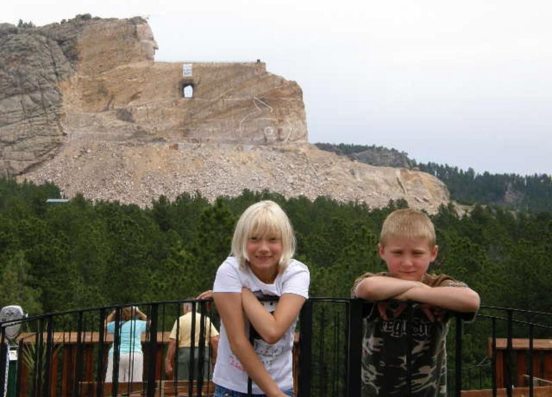 Crazy Horse With Grandchildren