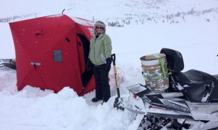 Doreen Ice Fishing Set Up
