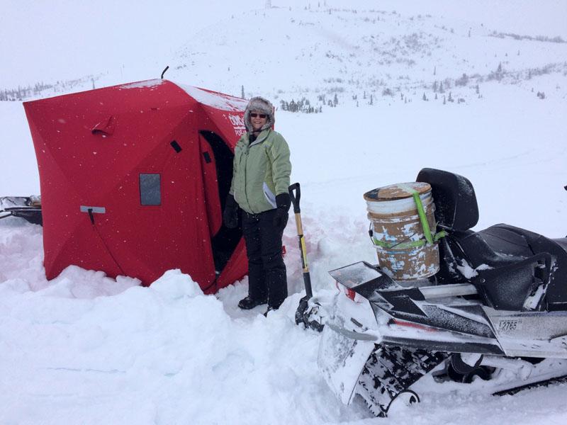 Doreen Ice Fishing Set Up