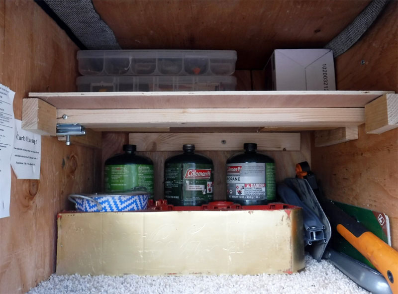 Exterior Storage Compartment With Shelf