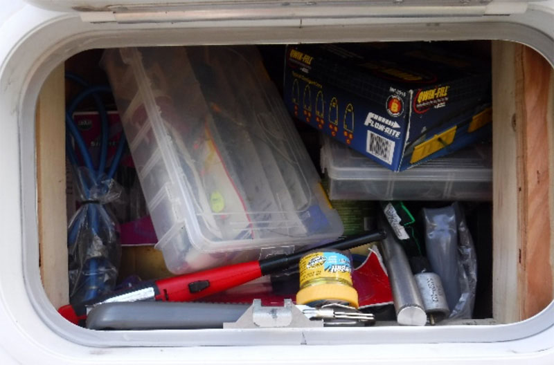 Exterior Storage Compartment Before Organization