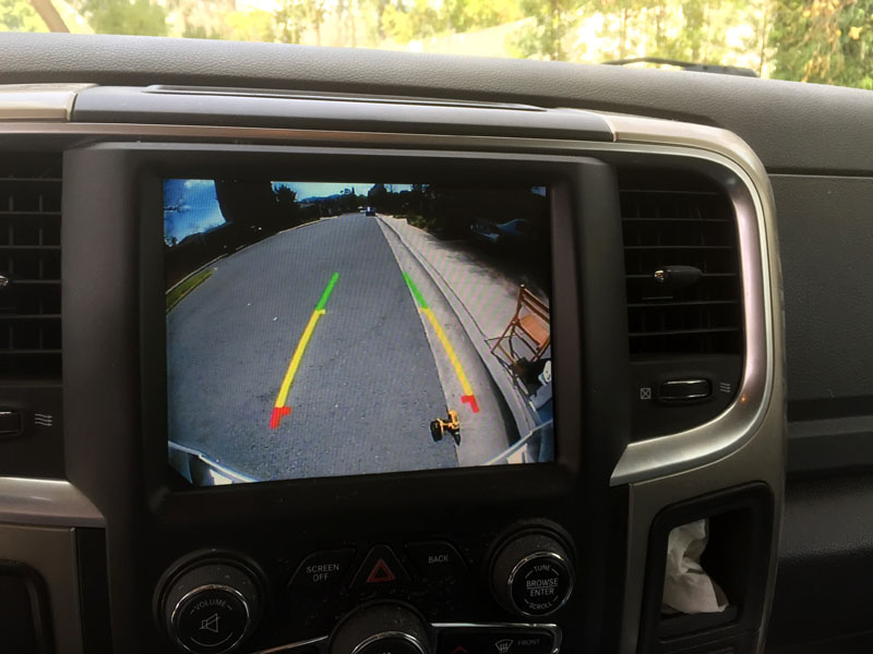 Factory RAM Backup Camera In Truck