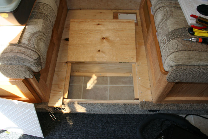 Floor Modification Cubby Hole