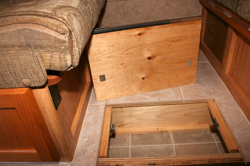 Floor Modification Cubby Storage