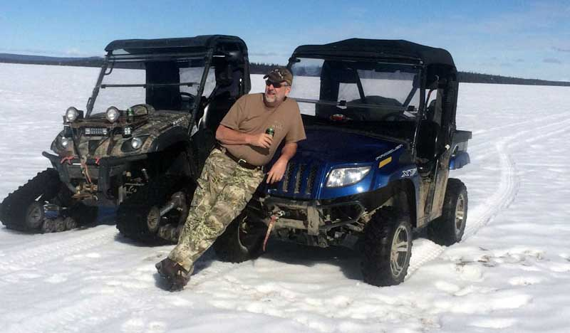 Icefishing Bring The Side By Sides For Transportation