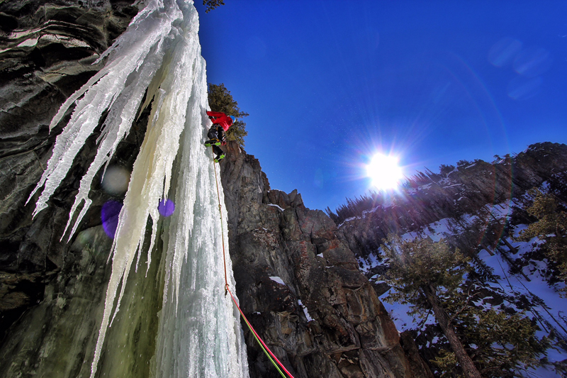 Icicles While Ice Climbing