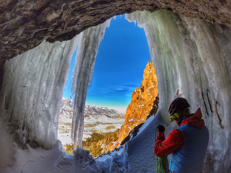 Inside the ice caves, Go Pro picture