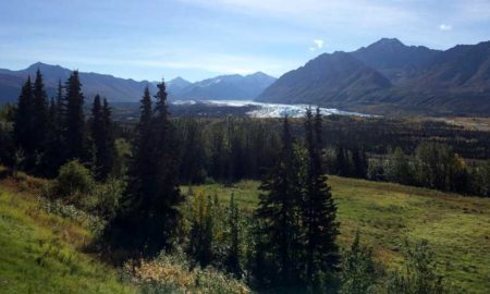 Matanuska Glacier From The Dining Room Of The Long Rifle Lodge