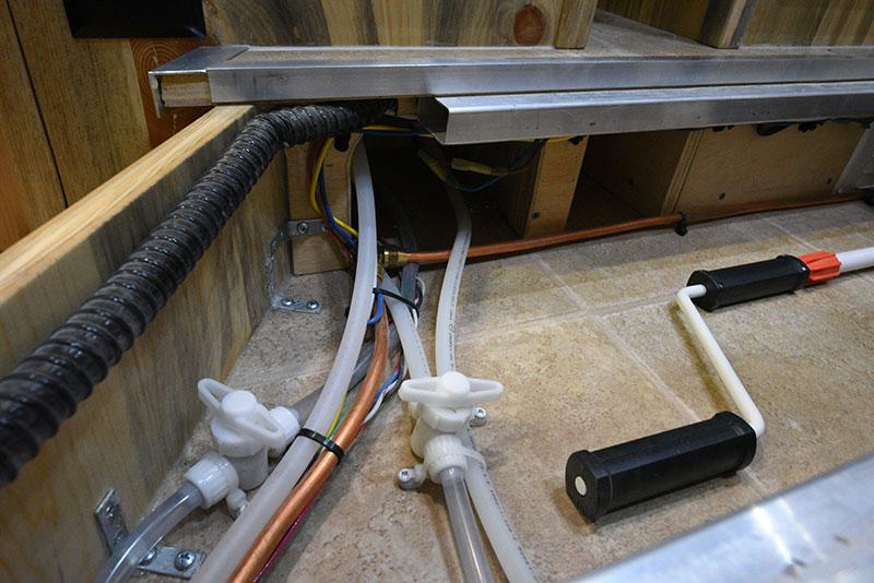 Phoenix Mini Max Entryway Storage Plumbing Closeup