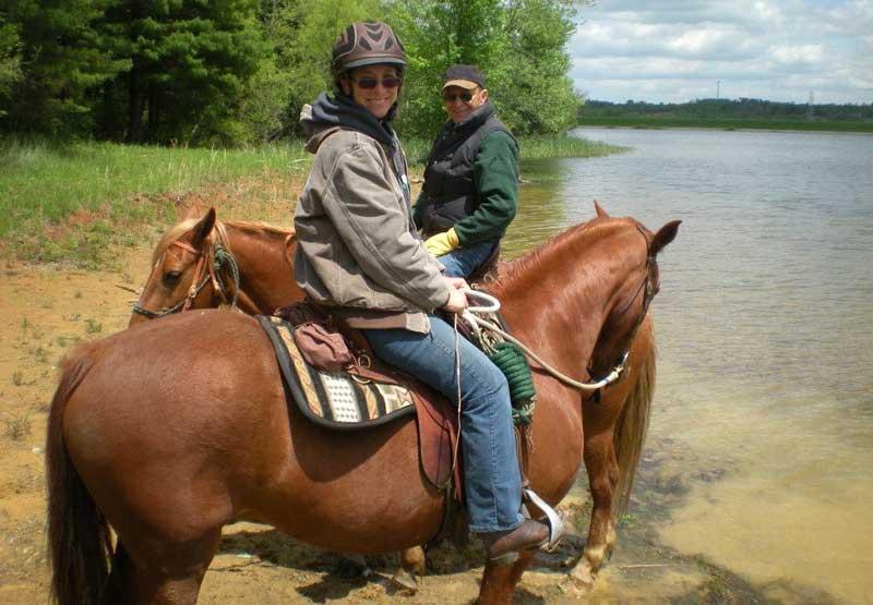 Riding Missouri Fox Trotting Horses On Trail