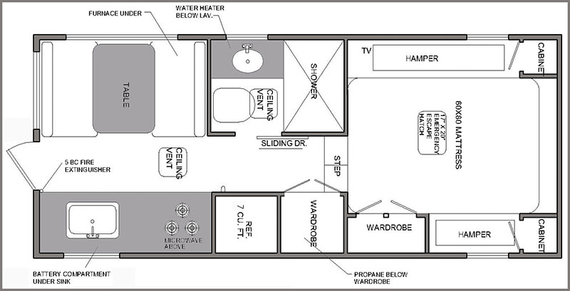 Rugged Mountain Granite 11RL Floor Plan