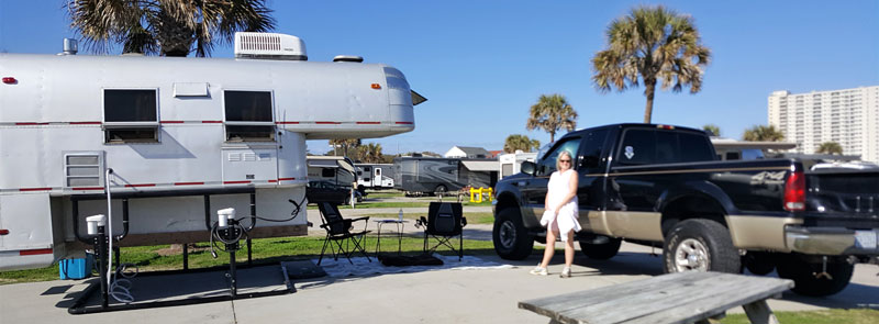 StableLift Off Camper At Campground