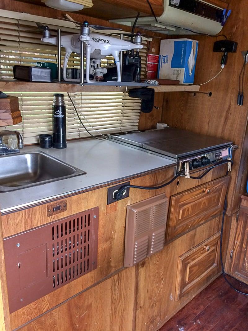 31 Year Old Bigfoot Camper Kitchen