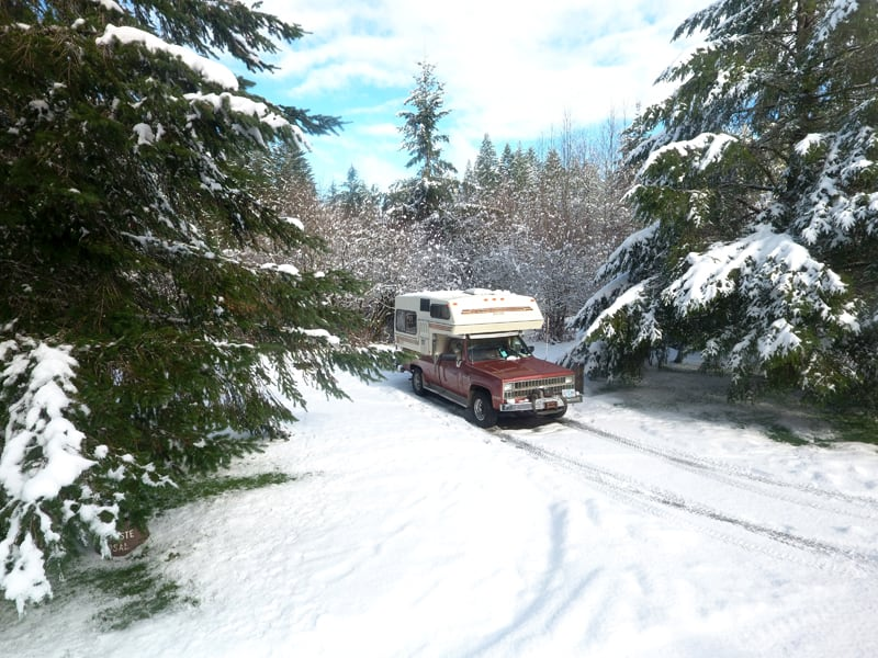 Bigfoot Camping In The Snow